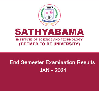 End Semester Examination - Results - JAN 2021