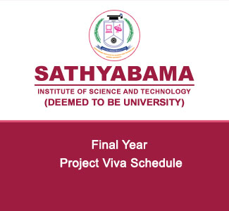 Final Year - Project Viva Schedule