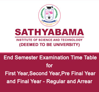 End Semester Examination - Time Table
