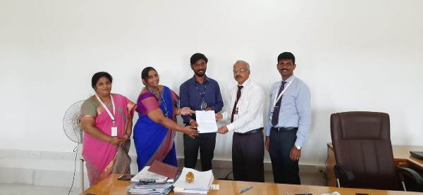 School of management studies has signed a Memorandum of Understanding with Youth 4 job,  on 20.11.2019 .The aim of this MoU is  give to train the students with disability on employability skills and connect them to companies .